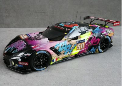 "CORVETTE C7R ""HUMAN"" ART CAR LM 2017 1/18"